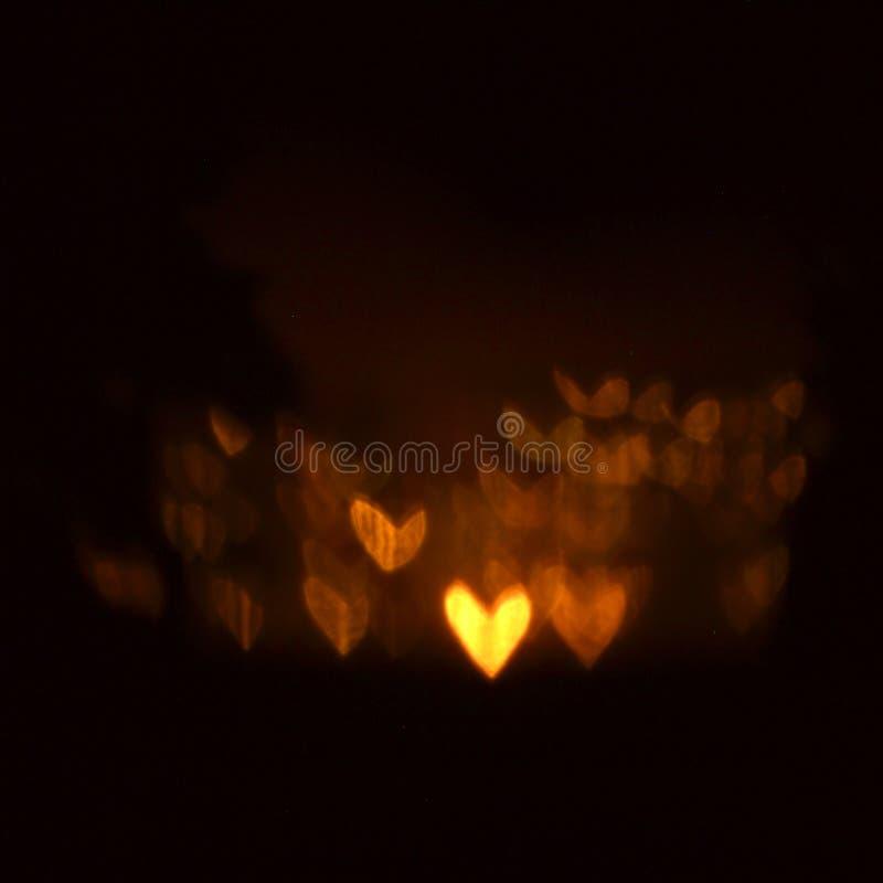 Светящая предпосылка сердец стоковая фотография