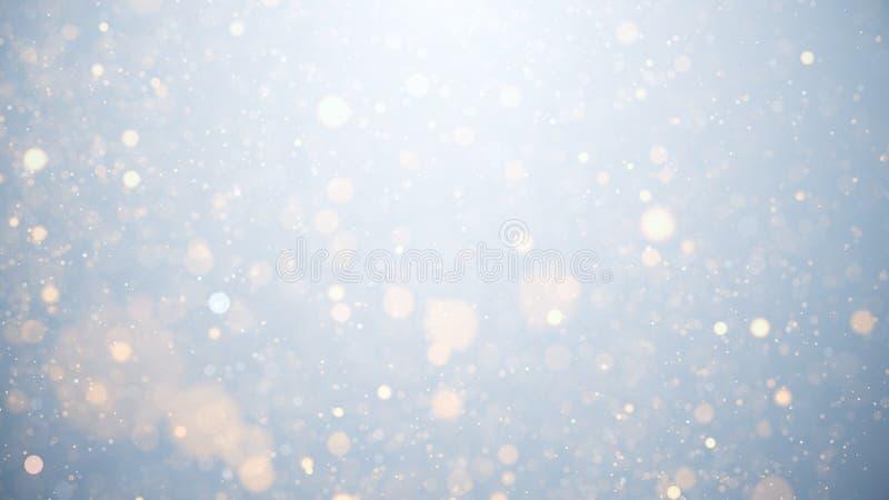Светящиеся частицы, звезды и искрящийся поток, абстрактный фон стоковые изображения