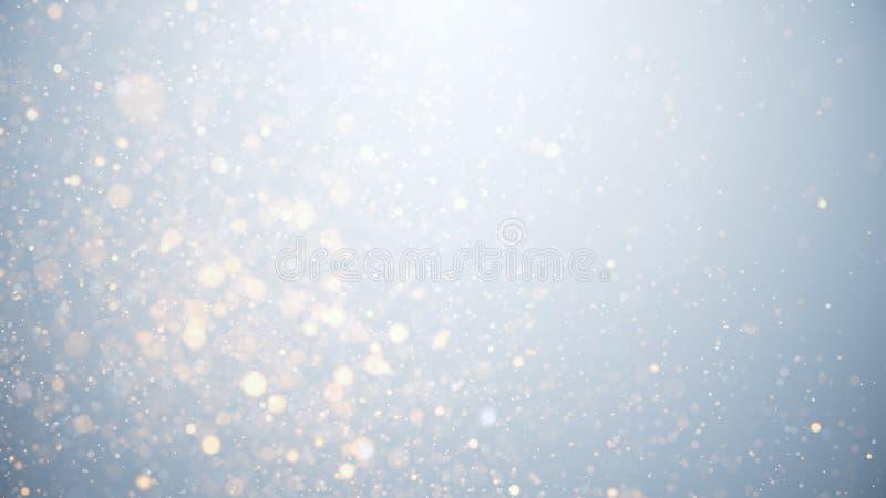 Светящиеся частицы, звезды и искрящийся поток, абстрактный фон стоковые изображения rf