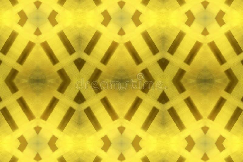 Светящийся цветной металлоконструкторский фон, золотой узор стоковая фотография rf