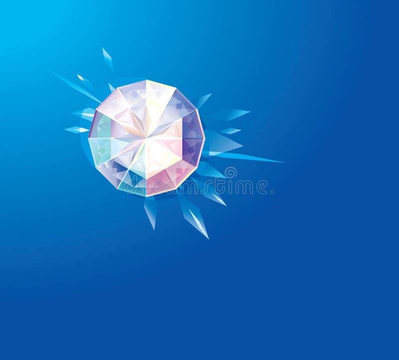 Светя диамант бесплатная иллюстрация