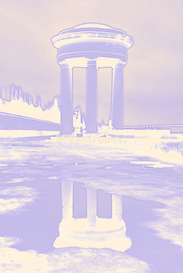 Светя неоновая ротонда цветов стоковое изображение