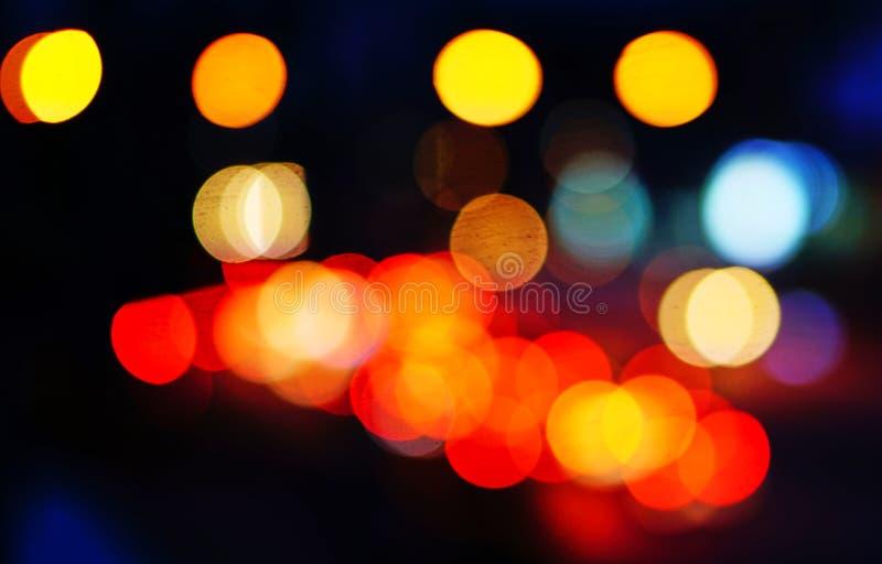 Свет автомобиля в ноче стоковые изображения