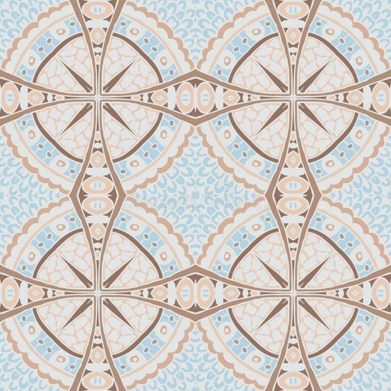 Светлая геометрическая крыть черепицей черепицей мозаика иллюстрация вектора