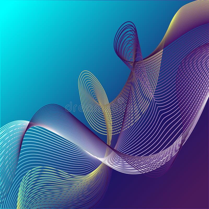 Светлая линия конспект смеси вектора стоковые изображения rf
