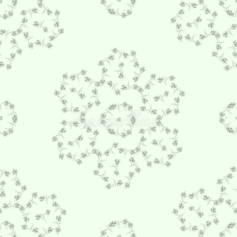 Светлая картина с орнаментами листьев стоковые изображения