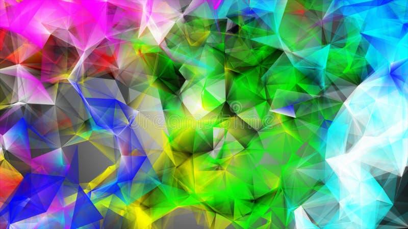 Светлая Multicolor полигональная иллюстрация, который состоят из треугольников Триангулярная картина для вашего дизайна дела иллюстрация штока