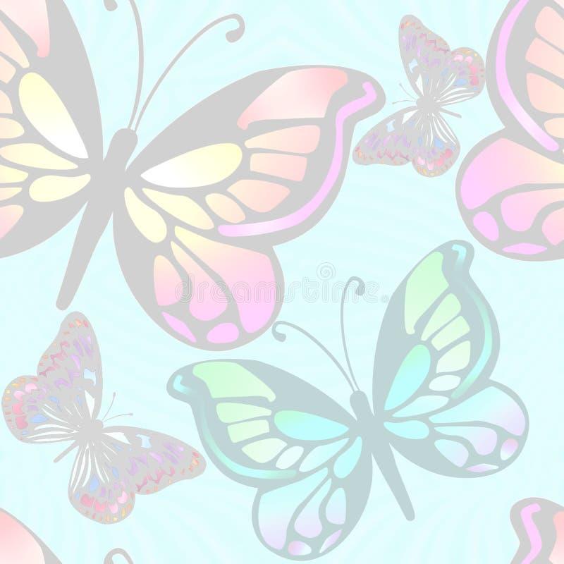 свет бабочек предпосылки иллюстрация штока