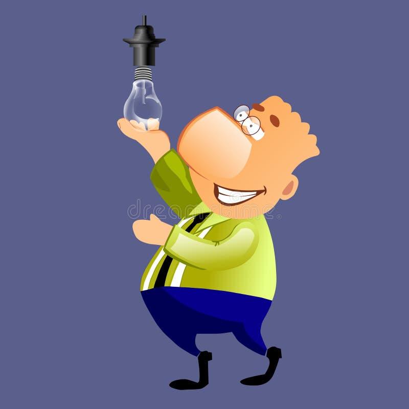 свет бизнесмена шарика счастливый бесплатная иллюстрация