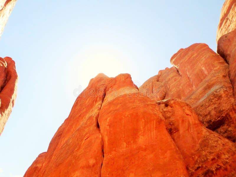Свет в каньоне стоковое изображение rf