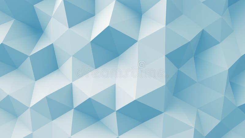 Свет - голубая полигональная геометрическая поверхность 3D бесплатная иллюстрация