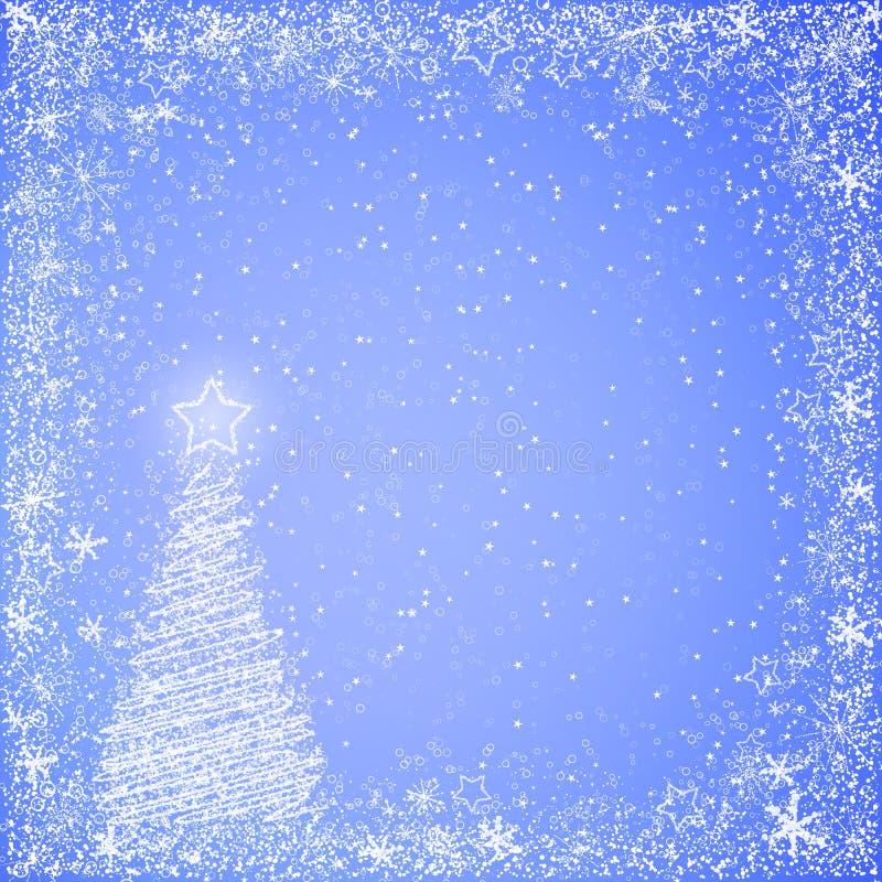 Свет - голубая предпосылка рождества иллюстрация штока