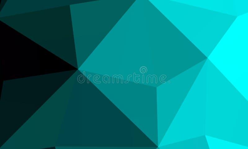 Свет - голубой, иллюстрация зеленого вектора полигональная, который состоят из треугольников иллюстрация вектора