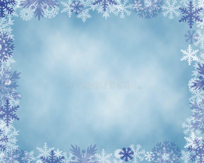 Свет - голубой край снежинки предпосылки стоковая фотография