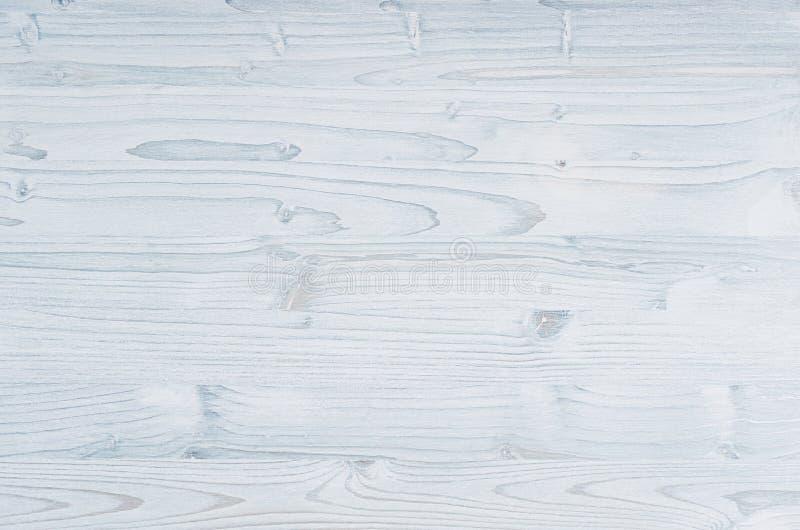 Свет - голубая винтажная деревянная текстура Взгляд сверху, деревянная доска стоковые фото