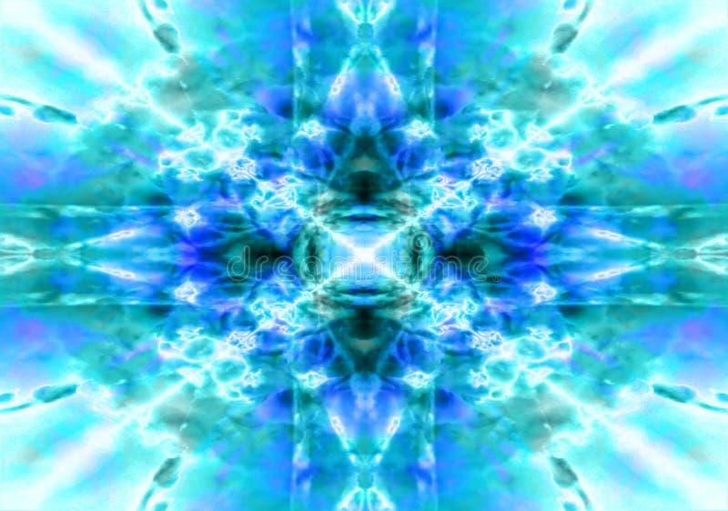 Свет - голубая предпосылка калейдоскопа иллюстрация штока