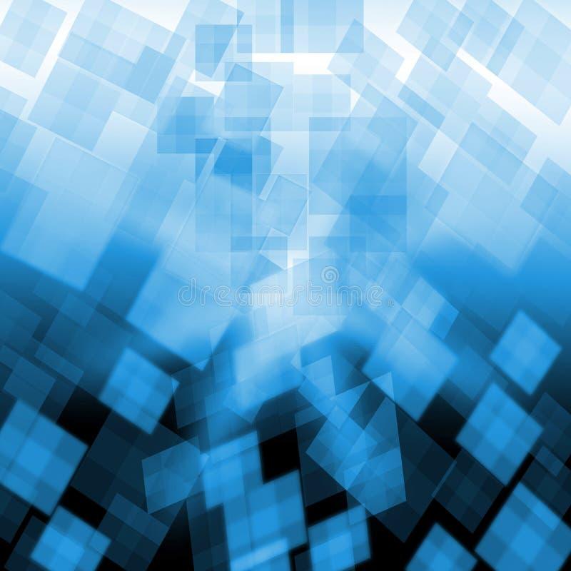 Свет - голубая предпосылка кубов показывает Pixeled бесплатная иллюстрация