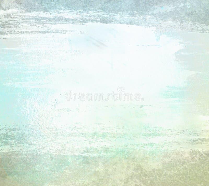 Свет - голубое backgrond акварели grunge краски стоковая фотография rf