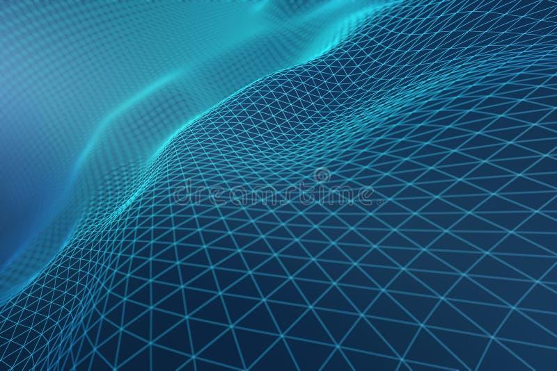 Свет - голубые волны решетки иллюстрация штока