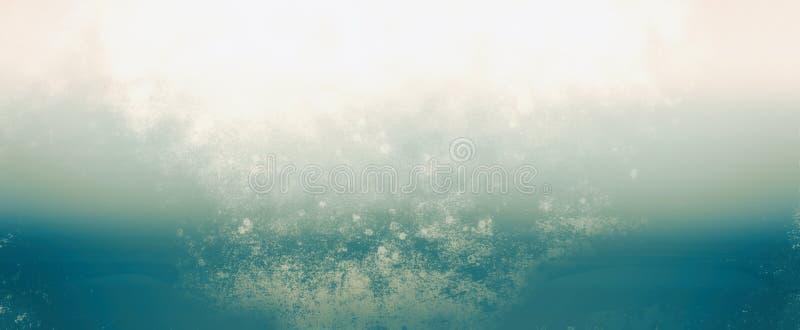 Свет градиента увял дизайн тумана или помоха в голубом и белом на винтажным предпосылке текстурированной grunge, grungy artsy moo иллюстрация штока