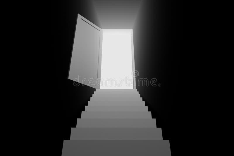 свет двери иллюстрация штока