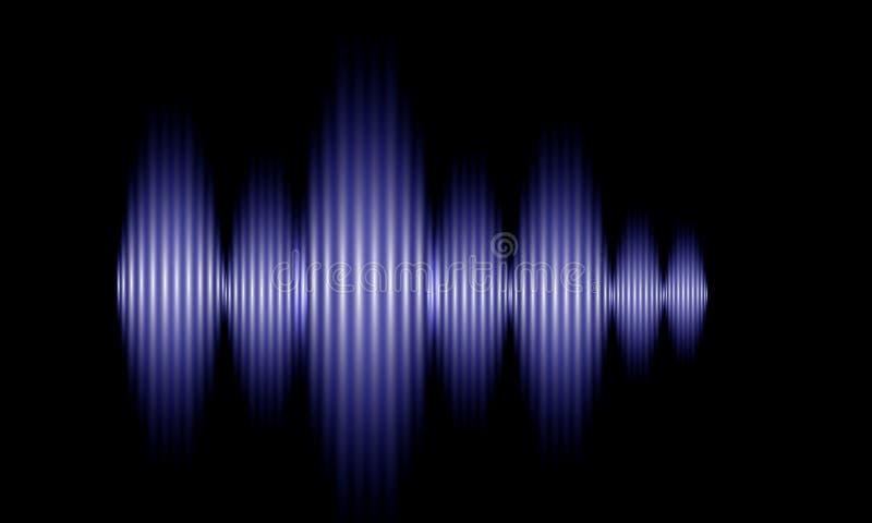 Свет зарева звуковых войн цифров голубой осциллируя, предпосылка абстрактной технологии бесплатная иллюстрация