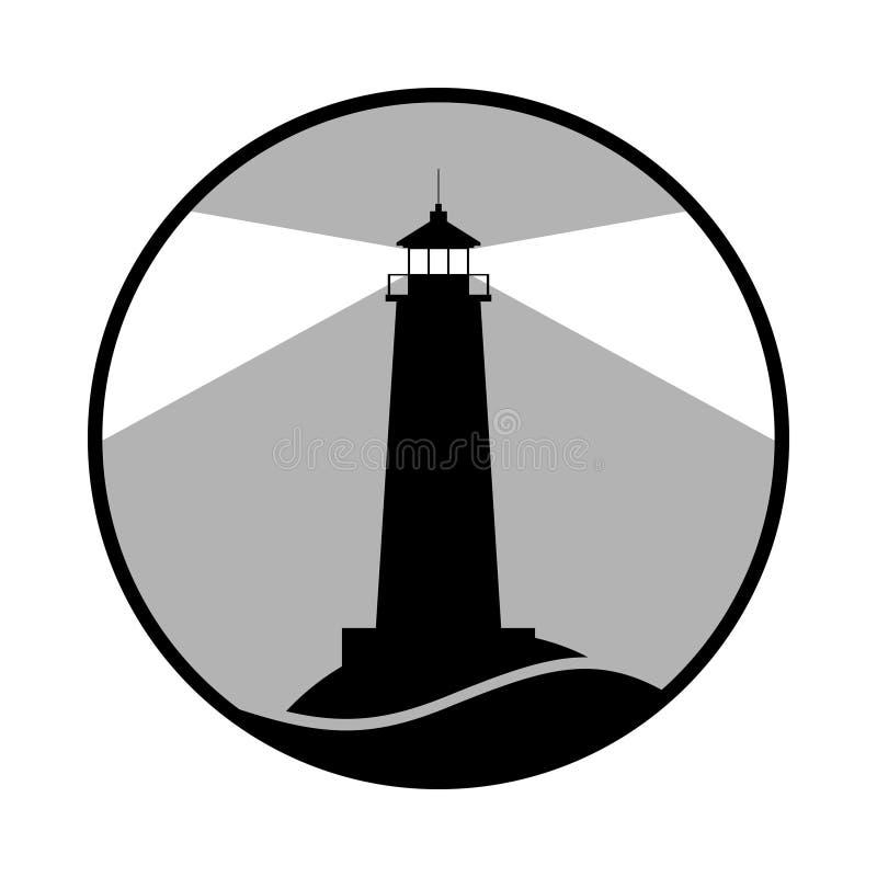 Свет знака маяка графического o иллюстрация штока