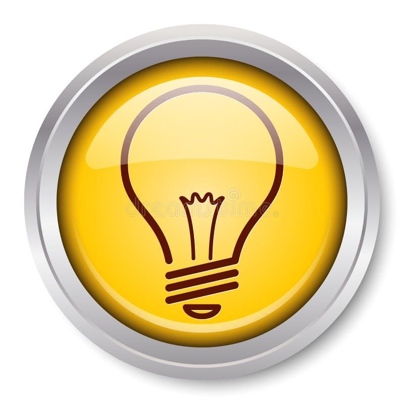 свет иконы шарика иллюстрация вектора