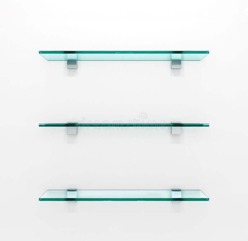 свет иллюстрации предпосылки eps10 стеклянный серый shelves вектор иллюстрация штока