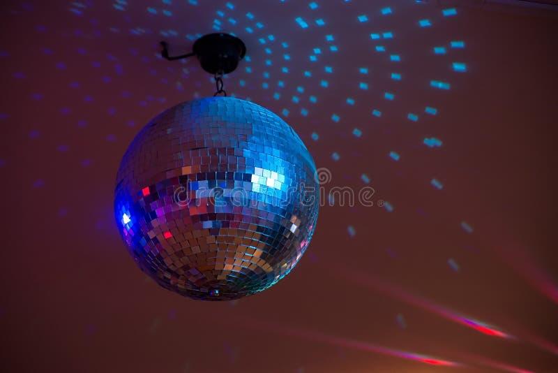 свет диско шарика голубой Партия, событие стоковая фотография rf