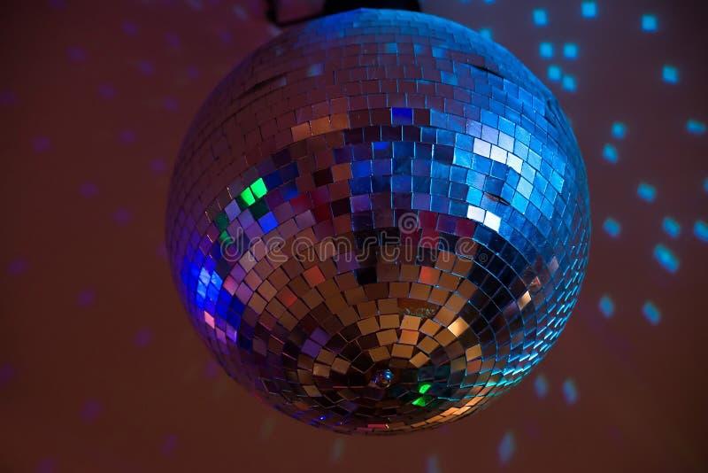 свет диско шарика голубой Партия, событие стоковое фото