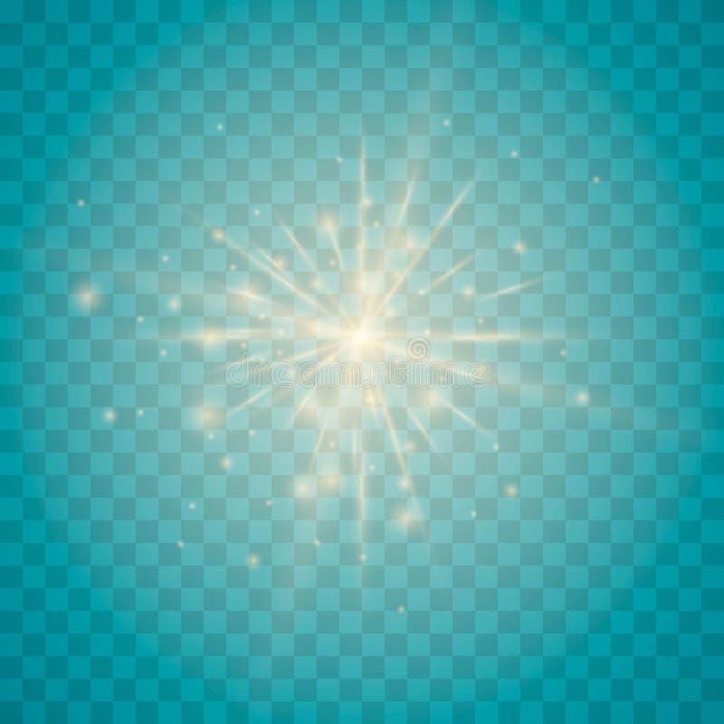 Свет, искра и звезды иллюстрация штока