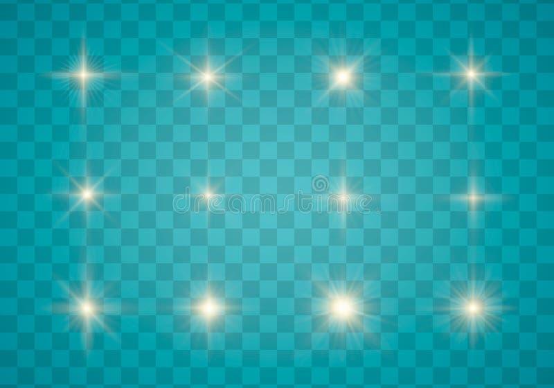 Свет, искра и звезды бесплатная иллюстрация