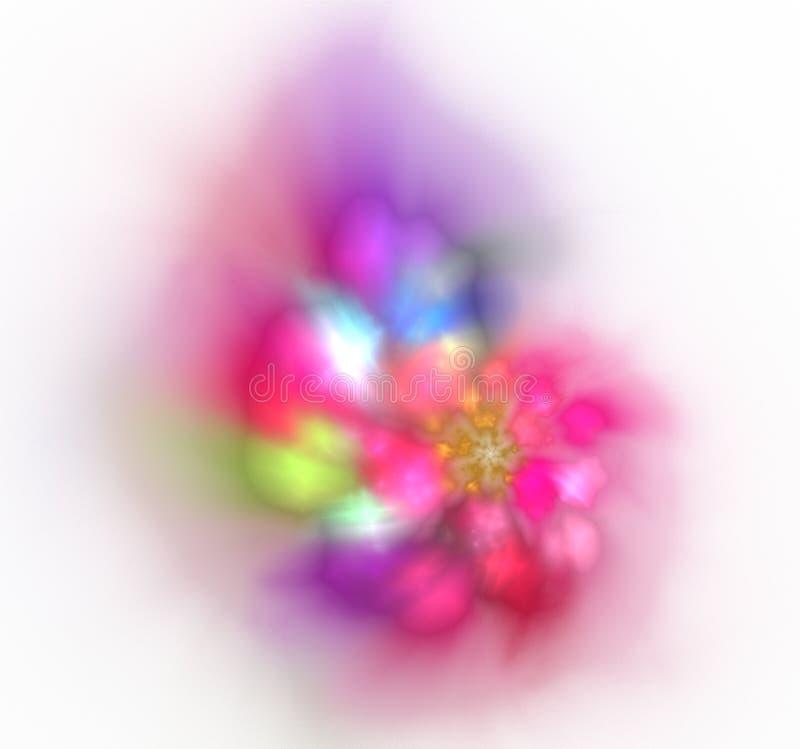 Свет и мягкая красочная предпосылка motley фрактали стоковая фотография