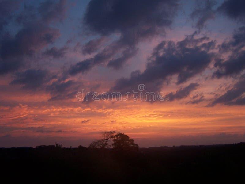 Свет и небо утра облаков стоковое фото rf
