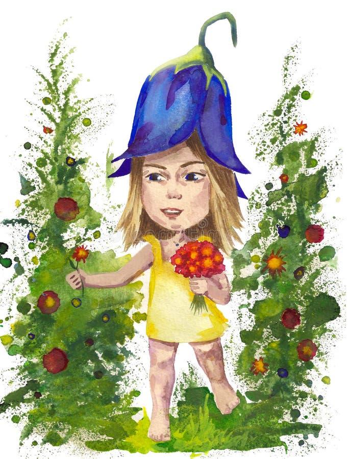 свет иллюстрации пущи цветков предпосылки красивейший иллюстрация вектора