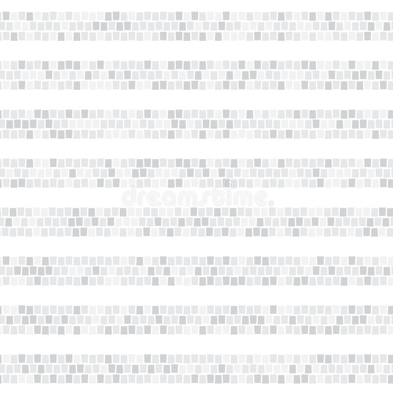 Свет - картина серой абстрактной мозаики горизонтальная striped безшовная Керамическая плитка разделяет бесконечную предпосылку в бесплатная иллюстрация