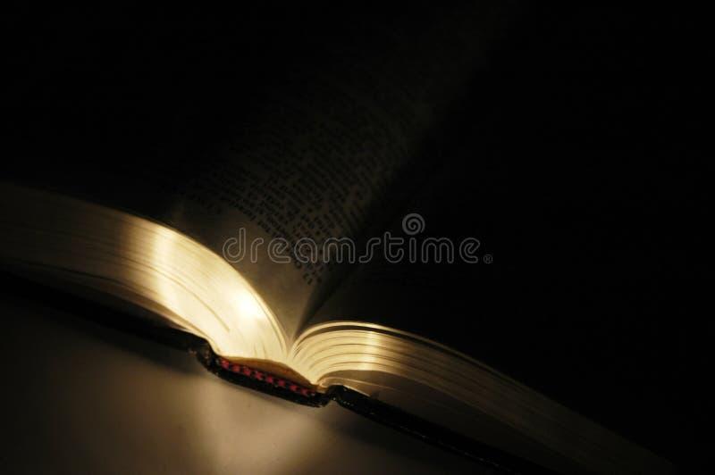 свет книги открытый стоковое изображение rf
