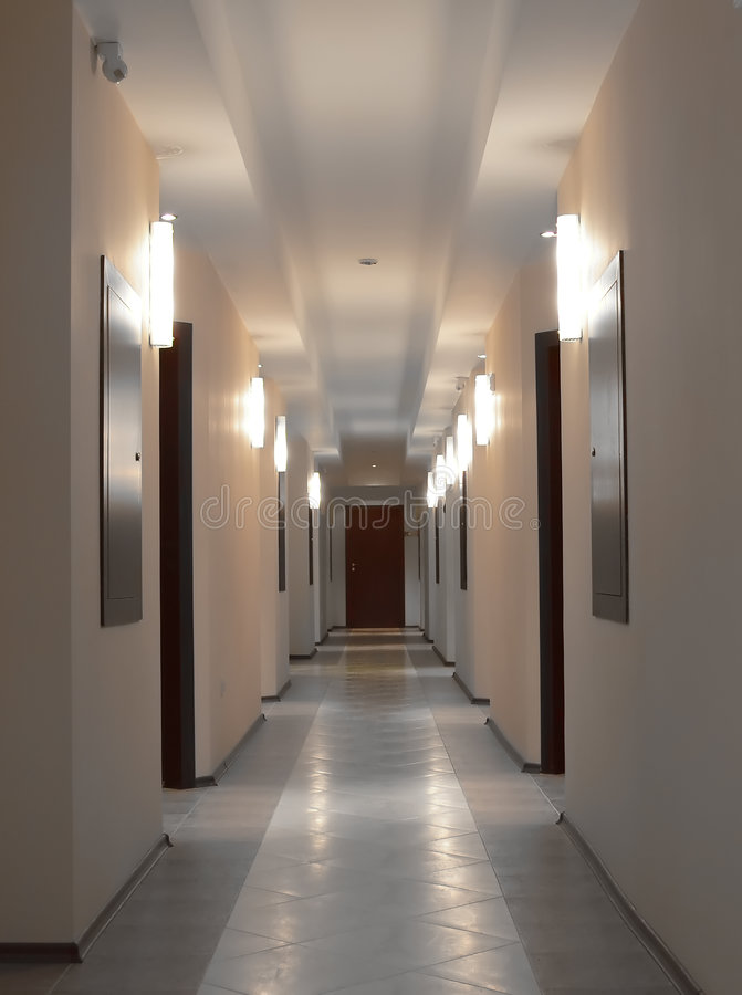 свет корридора стоковая фотография rf