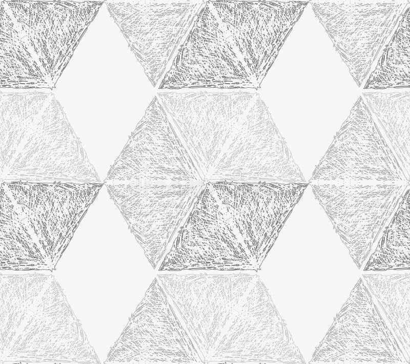 Свет насиженный карандашем - серые шестиугольники иллюстрация вектора