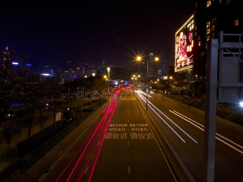 Свет на дороге Гонконге Натана стоковая фотография rf