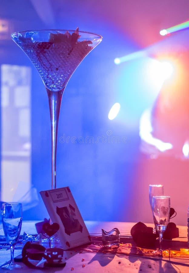Свет на свадебном банкете стоковые фото