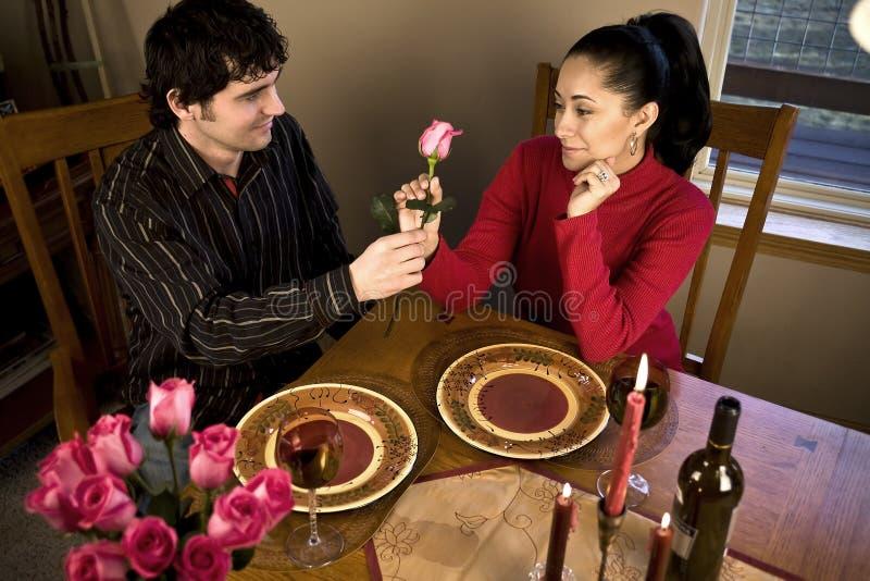 свет обеда свечки романтичный стоковые изображения