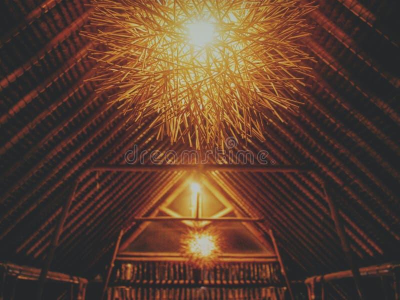 Свет от ресторана в Бали стоковая фотография