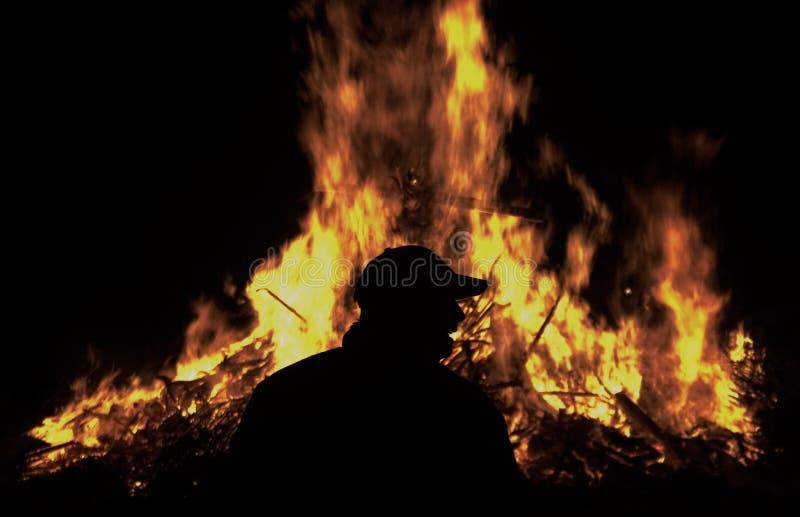 свет пожара мой стоковые фото