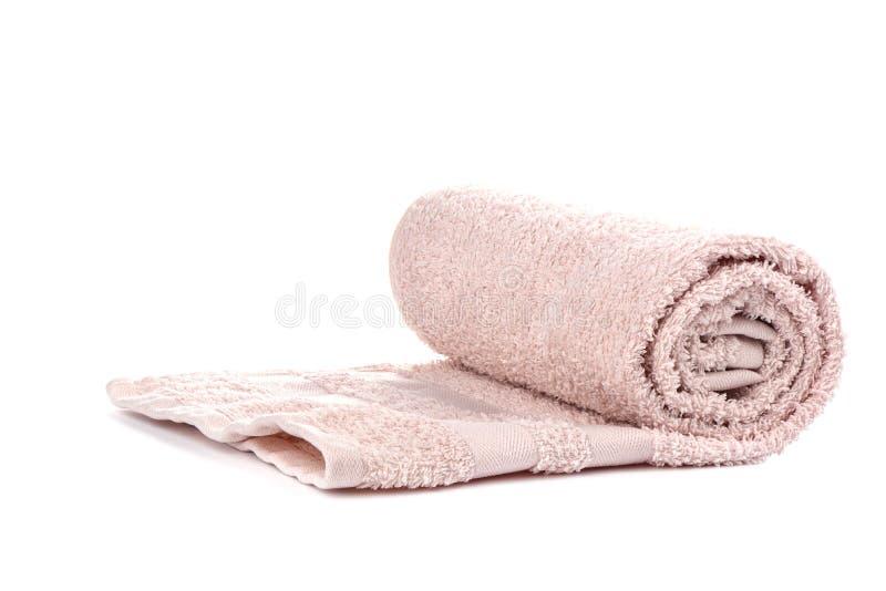 Свет - полотенце Terry пинка изолированное на белой предпосылке стоковая фотография