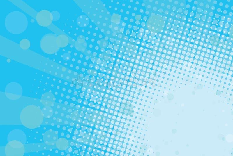Свет - предпосылка голубого полутонового изображения ретро иллюстрация штока