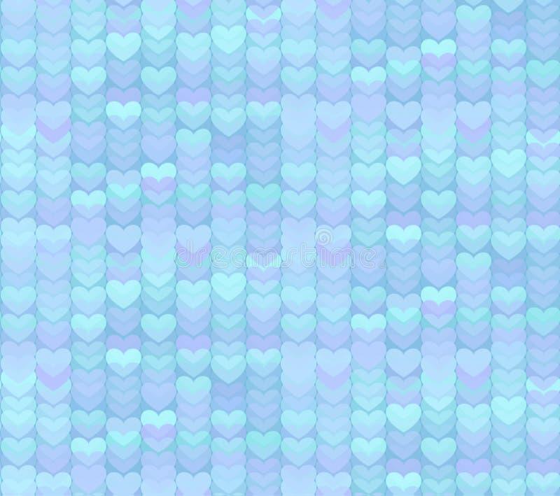 Свет - предпосылка картины голубых сердец безшовная бесплатная иллюстрация