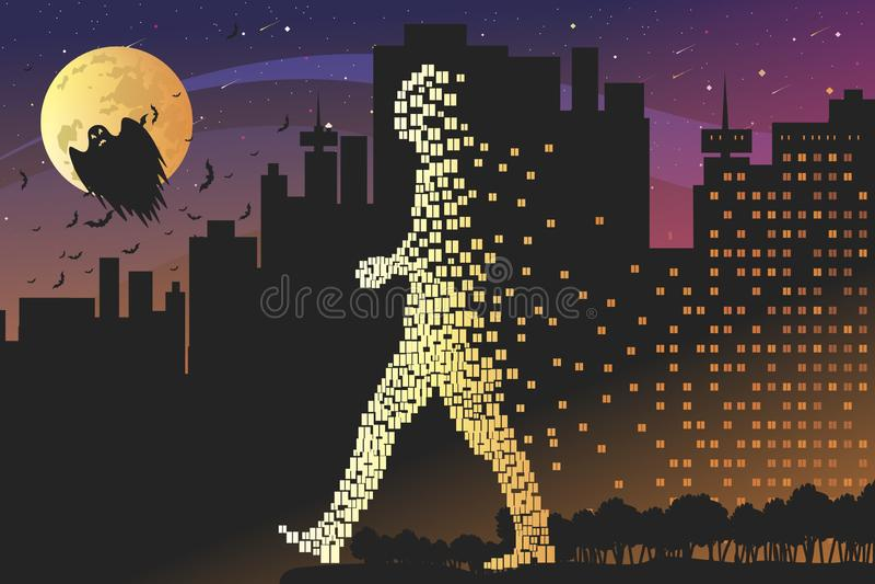 Свет приходит и движется ночью