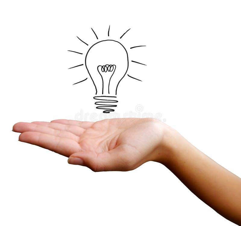 свет руки шарика стоковая фотография